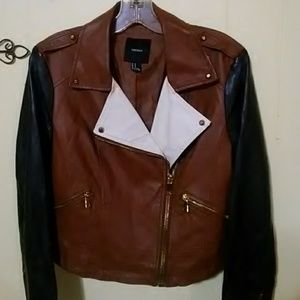 Forever 21 Faux Leather Moro Jacket (Medium)